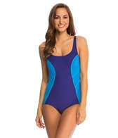 Gabar Pool Colorblocking Scoop Neck One Piece Swimsuit