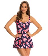 Gabar Sunlit Flower Twist Bra Swim Dress