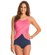 Gabar Pool Colorblocking High Neck One Piece Swimsuit