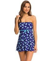 Gabar Shadow Flower Bandeau Swim Dress