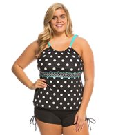 Beach House Plus Size Block Island High Neck Tankini Top