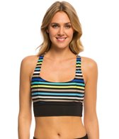 Beach House Swimwear Rockland Stripe Racer Back Sport Bikini Top