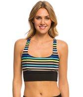 Beach House Swimwear Rockland Stripe Racer Back Sport Bikini Top