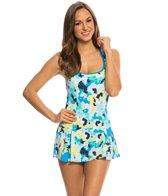 Beach House Hyaniss Port Pleated Skirt Swim Dress