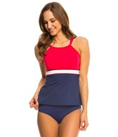 Beach House Palm Beach Spliced High Neck Tankini Top