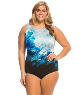 Longitude Plus Size Rosalinda High Neck One Piece Swimsuit
