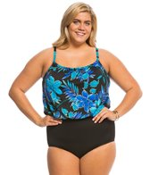 Longitude Plus Size Samurai Blouson One Piece Swimsuit