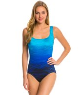 Longitude High Tide Double Crossback Tank One Piece Swimsuit
