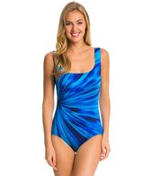 Longitude Coral Shine U Back Tank One Piece Swimsuit