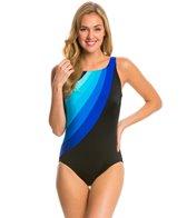 Longitude Colorblock Highneck One Piece Swimsuit