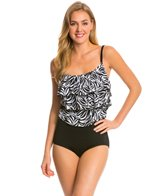 Longitude Tribal Quest Triple Tier Tank Blouson One Piece Swimsuit