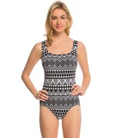 Longitude Nazca Double Crossback Tank One Piece Swimsuit