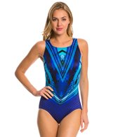 Longitude Space Odyssey Highneck One Piece Swimsuit