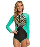 Body Glove Women's Maka Surface Long Sleeve One Piece Swimsuit