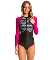 Body Glove Women's Ensenada Surface Long Sleeve One Piece Swimsuit
