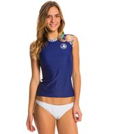 Body Glove Women's Wanderer Exhale Cap Sleeve Rash Guard