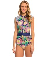 Body Glove Breathe Women's Wanderer Stand Up Cap Sleeve One Piece Swimsuit