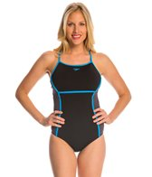 Speedo Perforated Thin Strap One Piece Swimsuit