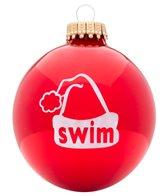 Bay Six Swim Santa Cap Ornament