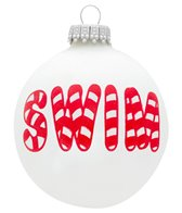 Bay Six Candy Cane Swim Ornament