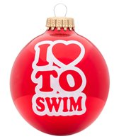 Bay Six I Love to Swim Ornament