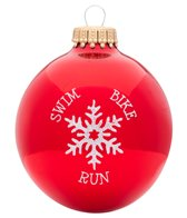Bay Six Swim Bike Run Snowflake Ornament