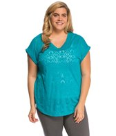 Marika Plus Size High Low Yoga Shirt
