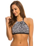 Kenneth Cole Got the Beat High Neck Halter Bikini Top