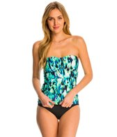Kenneth Cole Floral Explosion Bandeau Tankini Top
