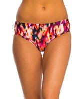Kenneth Cole Floral Explosion Shirred Hipster Bikini Bottom