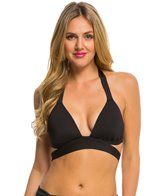 Kenneth Cole Strappy Hour Wrap Push Up Halter Bikini Top