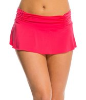 Kenneth Cole Strappy Hour Rouched Swim Skirt
