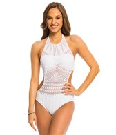 Kenneth Cole Deco the Distance High Neck Monokini Swimsuit