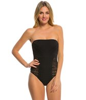 Kenneth Cole Deco the Distance Bandeau One Piece Swimsuit