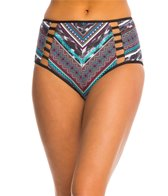 Kenneth Cole Tribal Wave High Waist Bikini Bottom