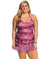 Kenneth Cole Plus Size Scarfs on Deck U-Neck Tankini Top