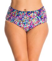 Kenneth Cole Plus Size Don't Mesh with Me High Waist Bikini Bottom
