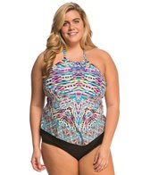 Kenneth Cole Plus Size Hot to Trot Tribal Hankini Top