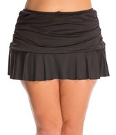 24th & Ocean Plus Size Ruffled Swim Skirt