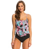 24th & Ocean Paisley Parade Tiered Tankini Top