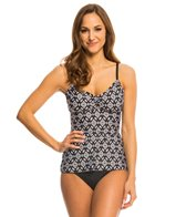 24th & Ocean Tribal Nights Adjustable A-D Cup Tankini Top