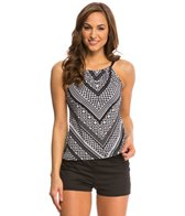 24th & Ocean Moroccan Lines Hi-Neck Tankini Top