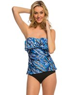 24th & Ocean Palms Away Cup Bandeau Tankini Top