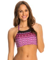 Kenneth Cole Reaction Scarfs on Deck High Neck Halter Bikini Top
