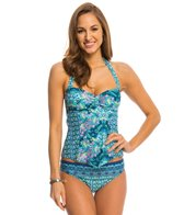 Kenneth Cole Reaction Scarfs on Deck Bandeau Tankini Top