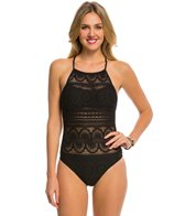 Kenneth Cole Reaction Suns Out Buns Out High Neck One Piece Swimsuit