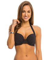 Kenneth Cole Reaction The Ruffle Shuffle Underwire Wrap Bikini Top (D-Cup)