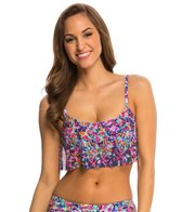 Kenneth Cole Reaction Don't Mesh with Me Flounce Bikini Top