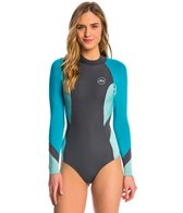 Xcel Women's 2MM Kailani Cheeky Bikini Cut Back Zip Long Sleeve Spring Suit Wetsuit