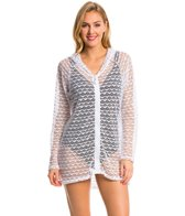 Nautica Swimwear Absolutely Shore L/S Hooded Cover Up Tunic